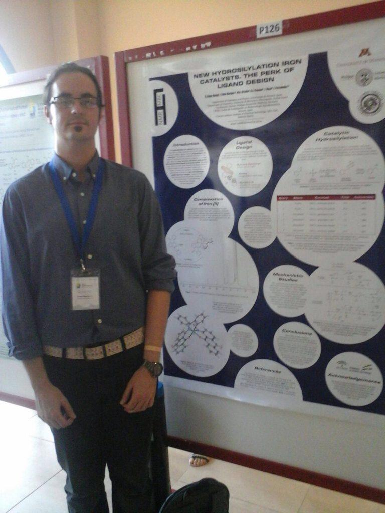 Álvaro presents a poster in the XXVI Biennial Meeting in Organic Chemistry of the Royal Society of Chemistry of Spain (RSEQ), held in Punta Umbría (Huelva)