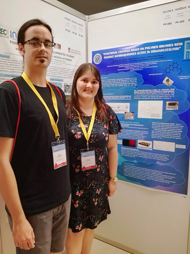 Ana Belén and Álvaro participate in the XXXVI Biennial Meeting of the Spanish Royal Society of Chemistry. This year is held in Sitges (Barcelona)