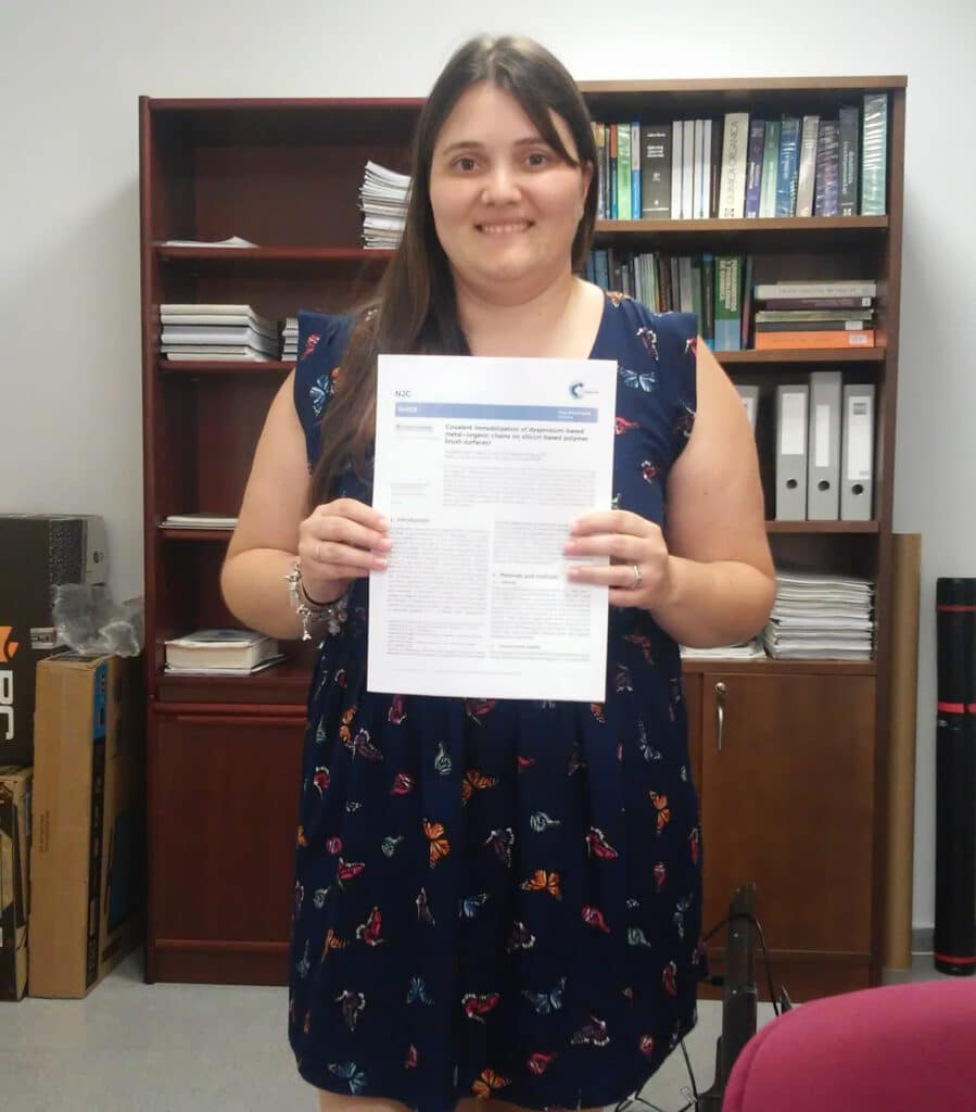 Ana Belén publishes in New Journal of Chemistry. We now know how to characterize these surfaces !! Congratulations and Good job !!