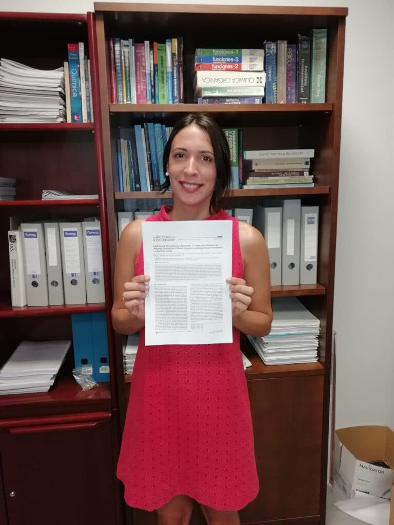 Ana publishes in the Journal of Agricultural and Food Chemistry