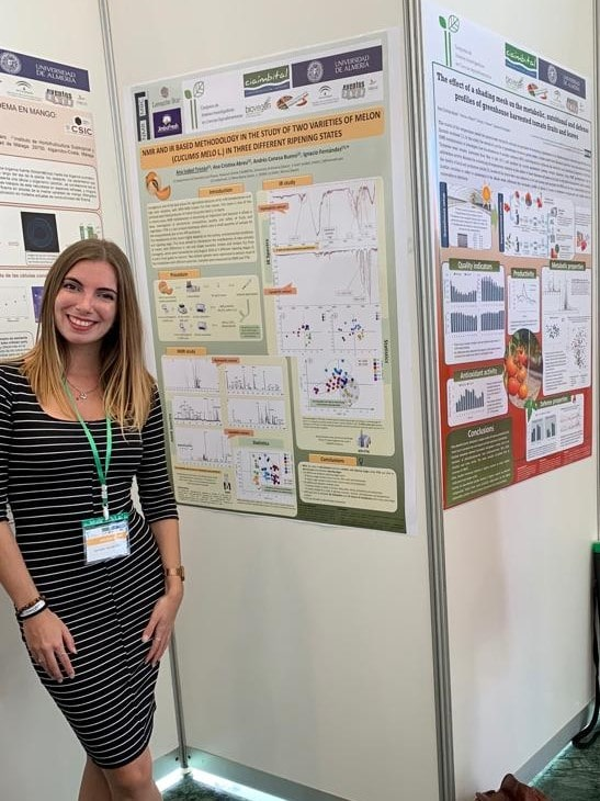 Anabel wins the Prize of Best Poster Presentation in the 2nd edition of the Congreso de Jóvenes Investigadores en Ciencias Agroalimentarias 2019 held in the CIAIMBITAL Research Centre