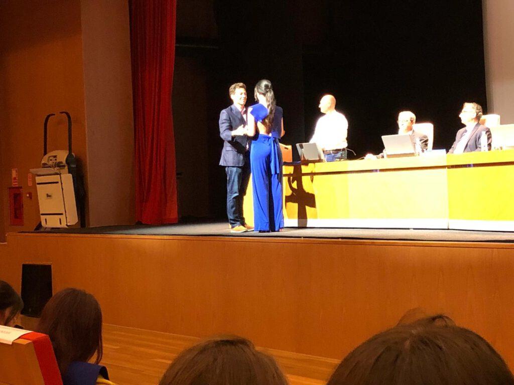 Nacho participates in the chemistry graduation ceremony 2019 granting the students Mirco Javier Raso, Paula García Moreno, Ana Contreras Salinas and Lorena Escot Navarro