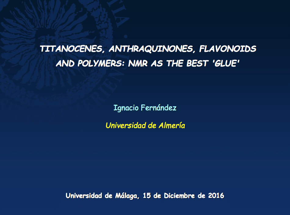 Nacho gives a Lecture in The Department of Organic Chemistry in the University of Málaga