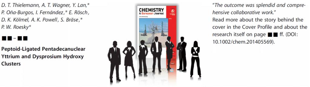 Front Cover in Chem. Eur. J.