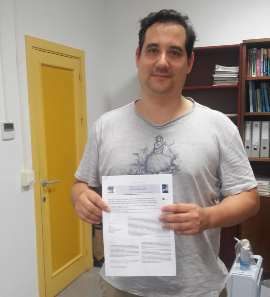Curro publishes a collaborative work in Microchemical Journal. A journal from Elsevier. Congratulations and Good job !!