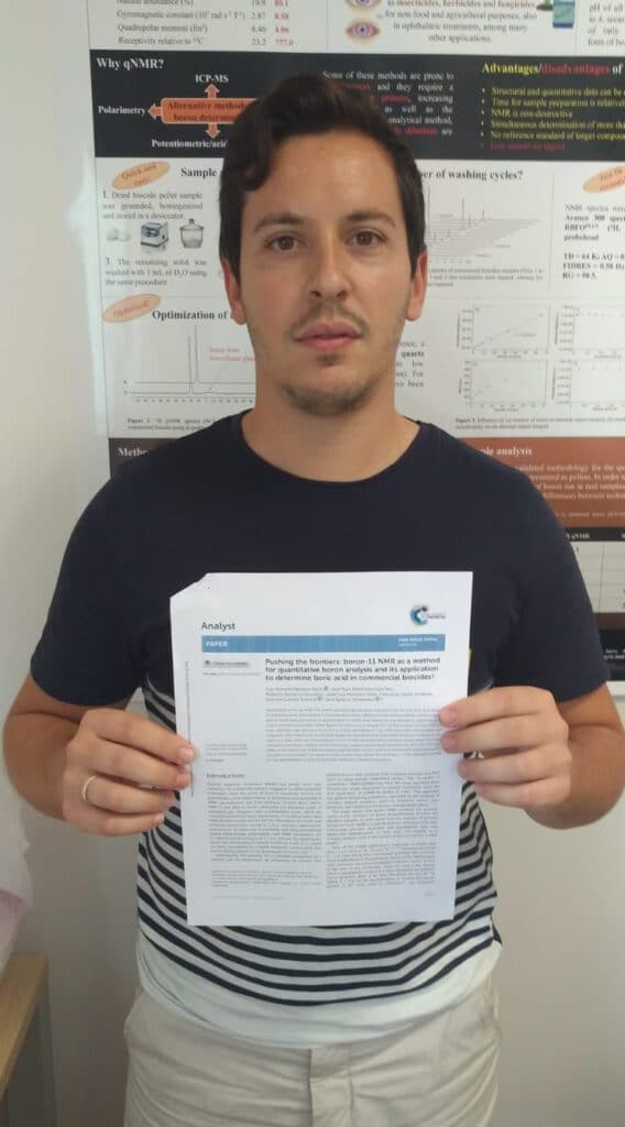 Luisma publishes in Analyst ! Using the quadrupolar boron-11 isotope to perform qNMR !