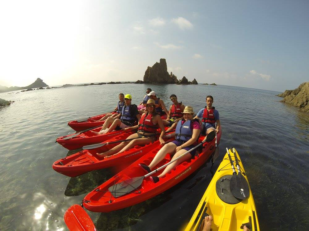 Summer 2015 excursion: Kayaks in the Cabo de Gata natural park!